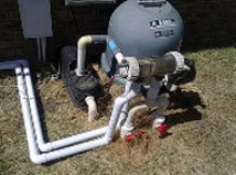 pool pump, filter and sal water chlorinator
