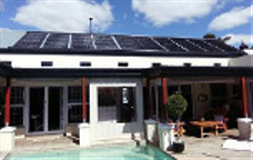 solar pool heating panels on roof